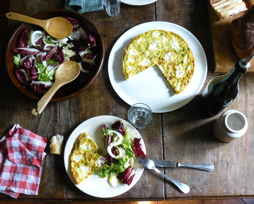 Frittata with Leeks and Goat Cheese - mint