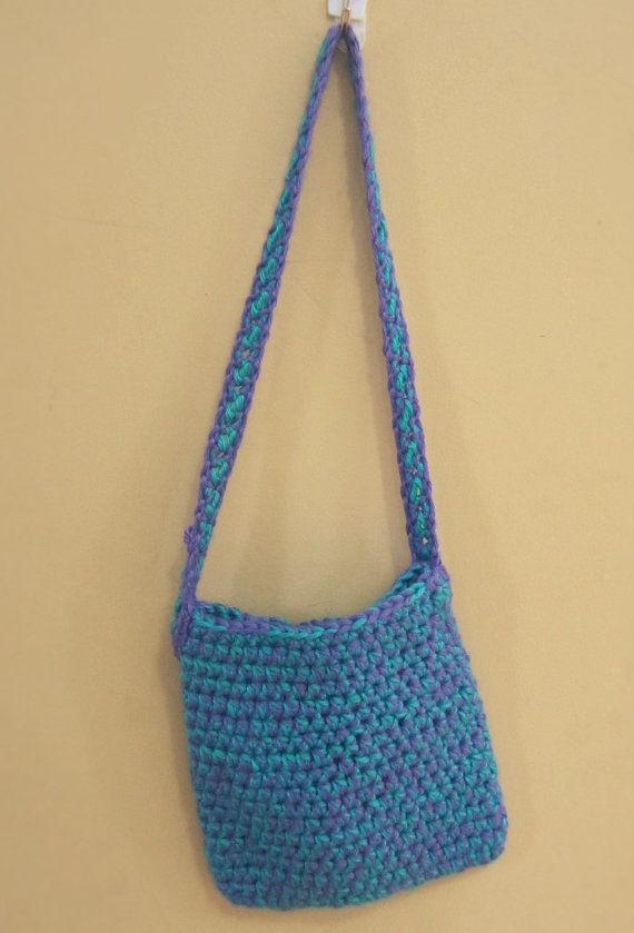 Crochet Small Purse : Small Hand Crocheted Purse-Curiouser Crochet