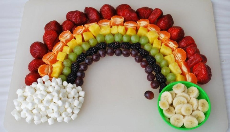 St patrick 39 s day food ideas rainbow fruit bar desserts for Food bar rainbow moon