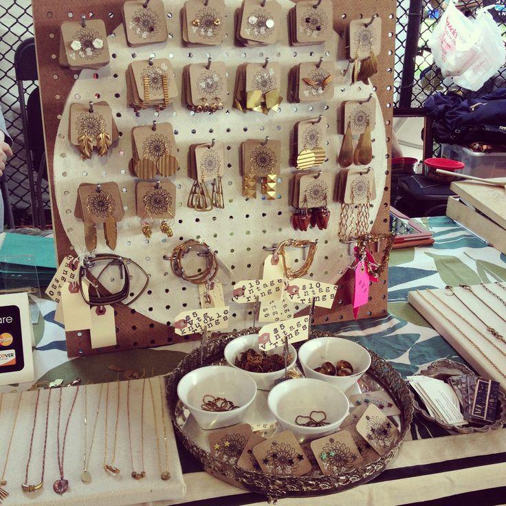 pegboard earring display  Market Display Ideas  Pinterest