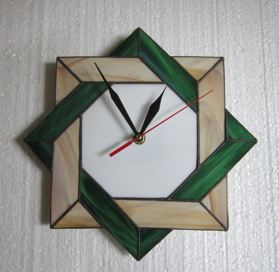 Stained Glass Wall Clock Unique Wall Clock Clock By