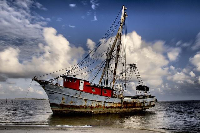 Fishing in mississippi old boat shrimp boats pinterest for Fishing in biloxi ms