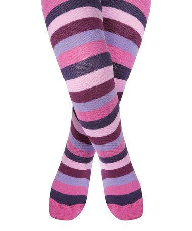 ! Pink & Purple Stripe Tights - Infant, Toddler & Girls #zulilyfinds