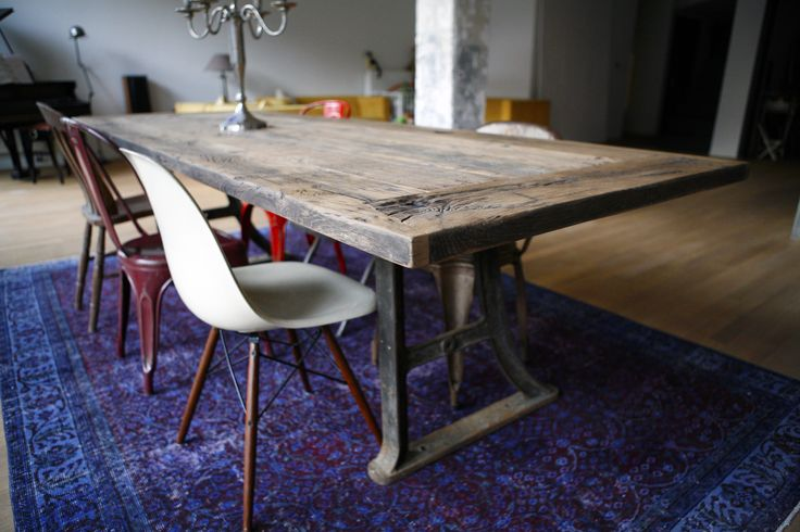 Oude eiken houten tafel