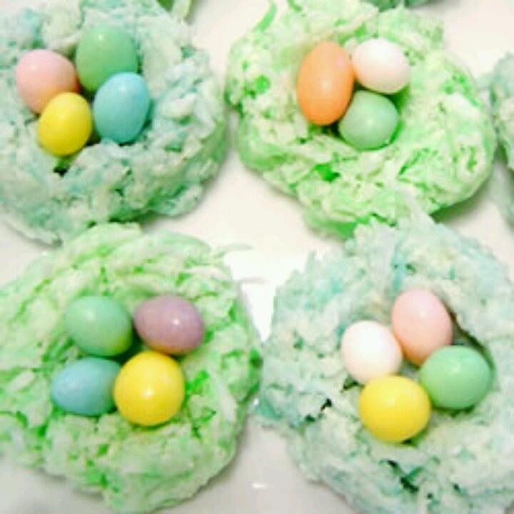 Easter Egg Nests. Click for recipe. | Aliments et Boissons | Pinterest