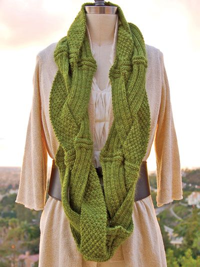 Knitted Infinity Scarf Pattern Pinterest : Challah Infinity Scarf Knit Pattern knitting Pinterest