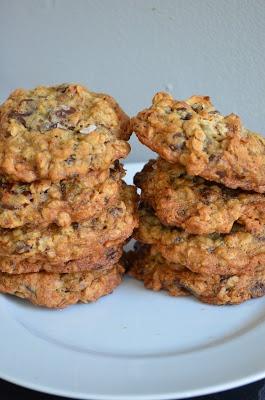 oatmeal pecan cherry chocolate chunk cookies.