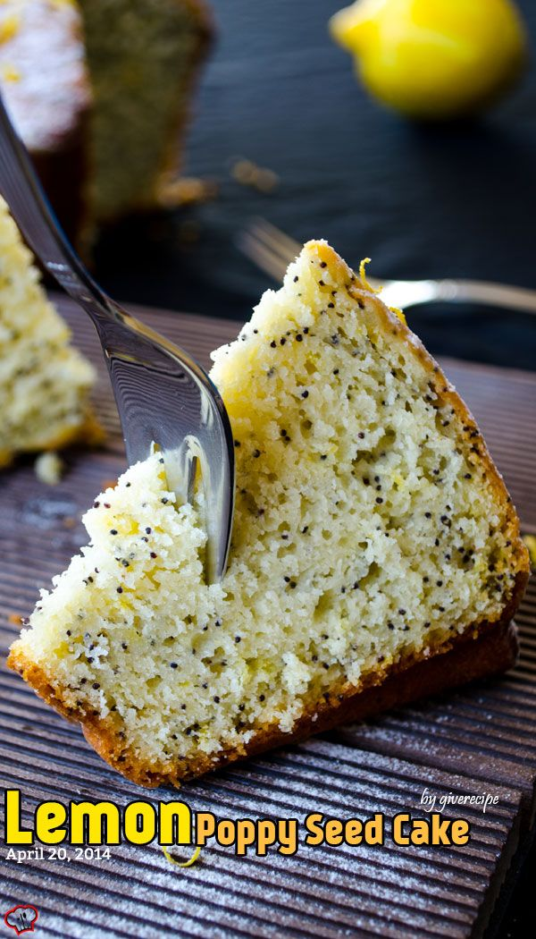 Lemon Poppy Seed Cake. An ice cream like lemon cake. So moist and full ...
