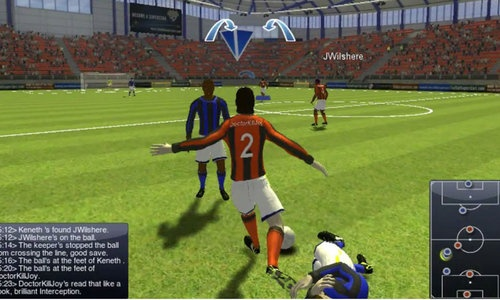 Superstars is a browser based first person football soccer mmo game
