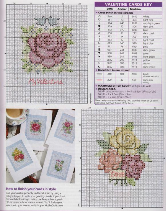Схемы вышивка для открыток 38
