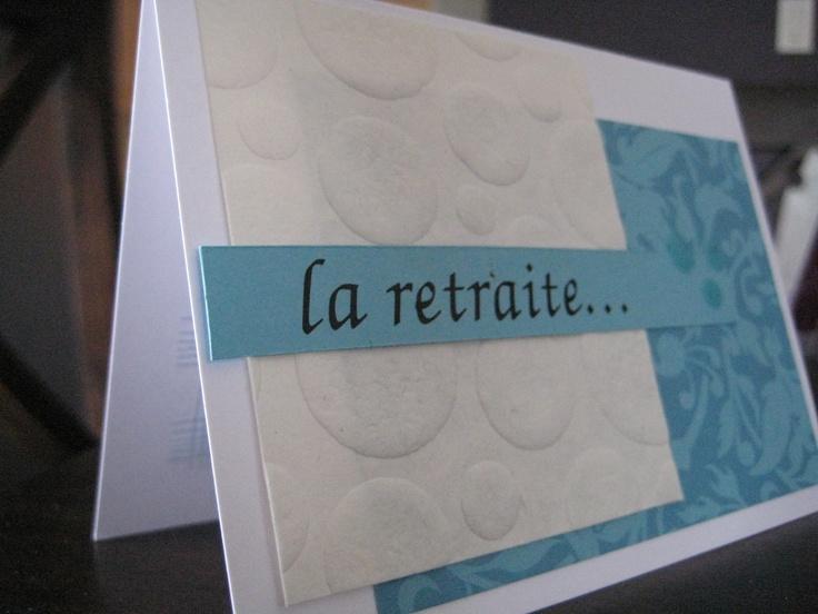 Homemade Retirement Cards