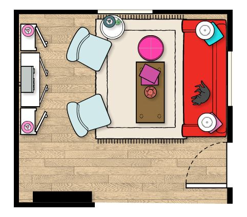 Living Room on Updated Living Room Plan   Living