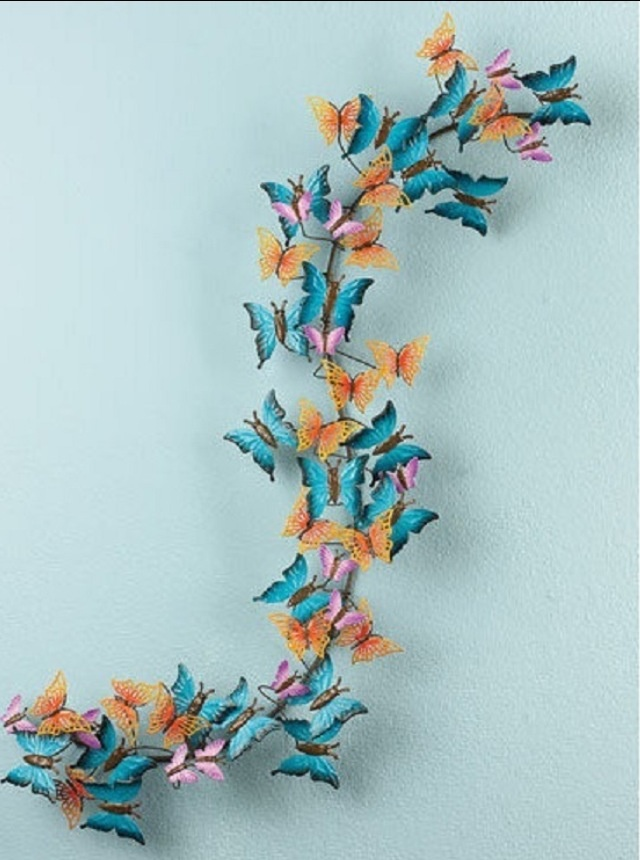 Diy Wall Decoration Butterfly : D butterfly wall art butterflies
