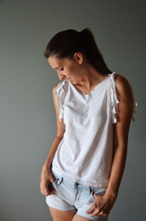 diy t shirt restyle tops and dresses pinterest. Black Bedroom Furniture Sets. Home Design Ideas