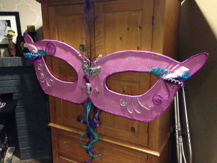Large Masquerade Mask Decoration For Over An Entryway At