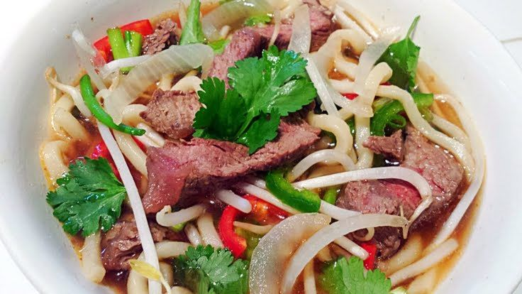 "Thai Beef Noodle Soup! ""This was delishes!! I added Red & green ..."