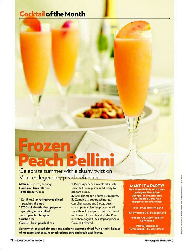 More like this: frozen peach bellini , peach bellini and bellinis .