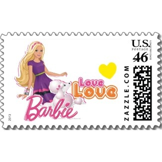 cute and fun barbie doll stamp stamps postage pinterest