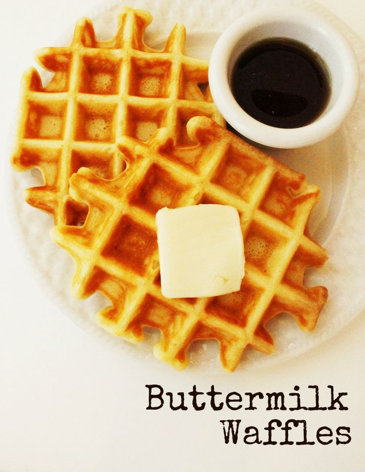 Buttermilk Waffles (from scratch!) Made 6/9/13 - had to add more milk ...