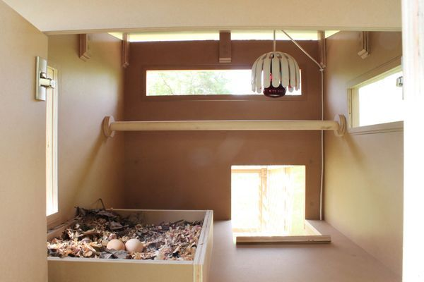The chicken tractor a coop for the modernist chicken and for Chicken coop interior designs