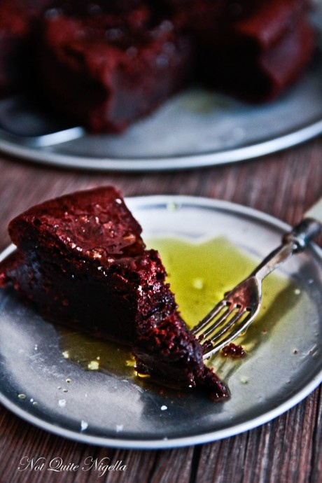 CHOCOLATE & OLIVE OIL CAKE: 350g dark chocolate 180g butter 1/3 cup ...