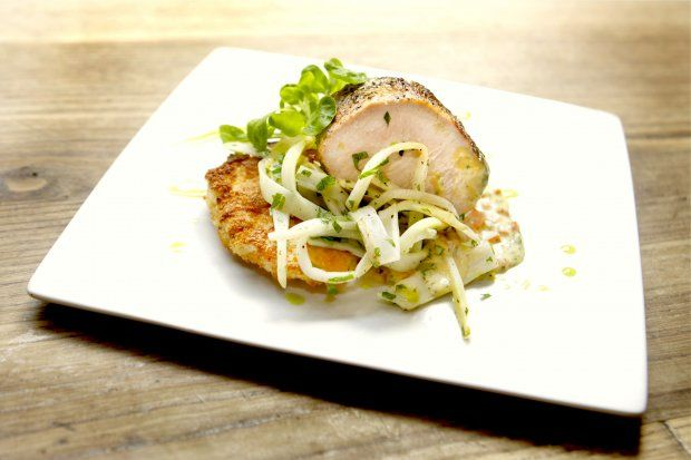 Olive Oil-Poached Veal With Lobster Schnitzel Recipe #FoodRepublic # ...