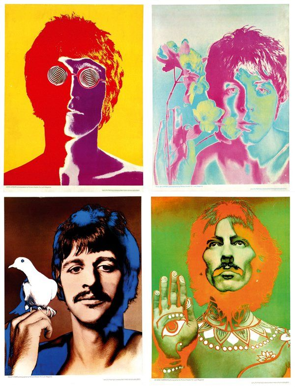 Beatles Poster by Richard Avedon | Psychedelic Trip Agency ...