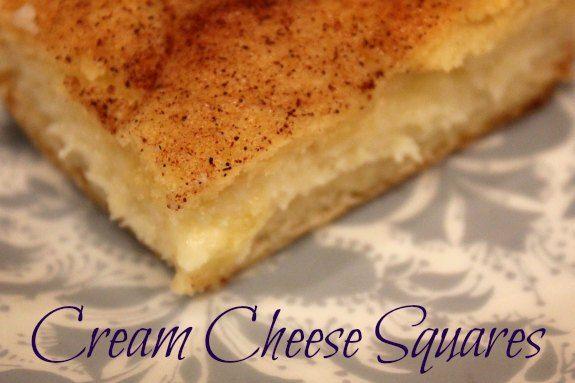 Cream Cheese Squares | Dessert Recipes | Pinterest