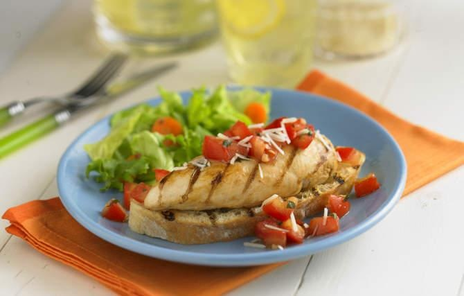 Bruschetta Chicken - Grandma came up with the idea of serving grilled ...