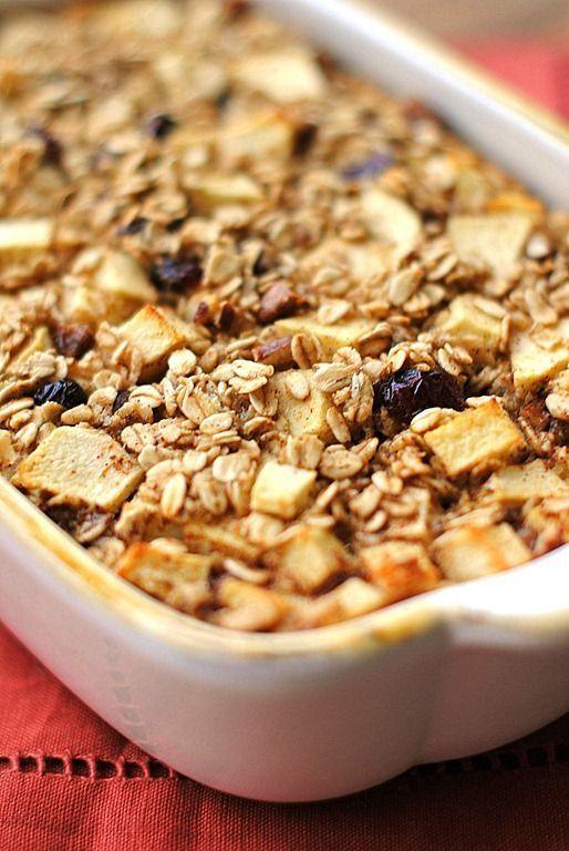 Apple Cinnamon Baked Oatmeal. | International Recipes & Preparation ...