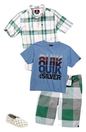 Quicksilver T-Shirt, Sport Shirts  Shorts (Infant) - Plaid-focused
