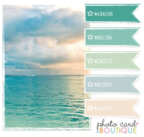 Ocean blue color scheme color inspirations pinterest for Ocean blue color combinations