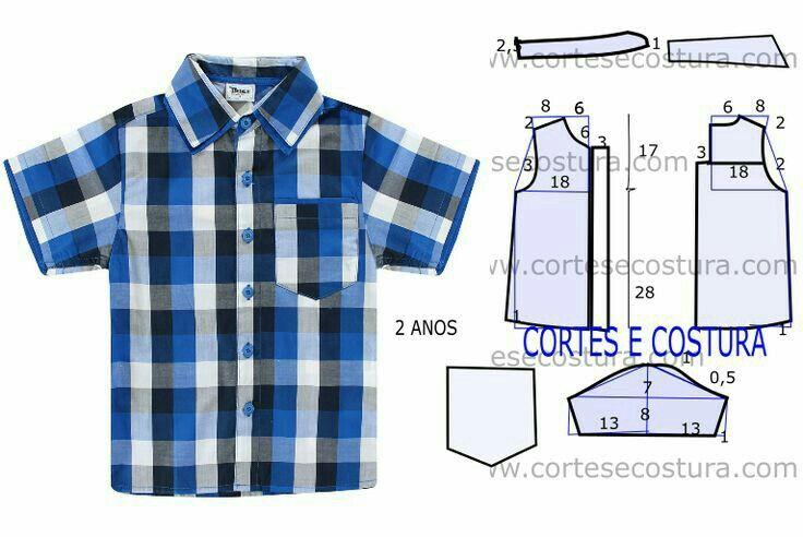 Пошить детскую рубашку своими руками 558