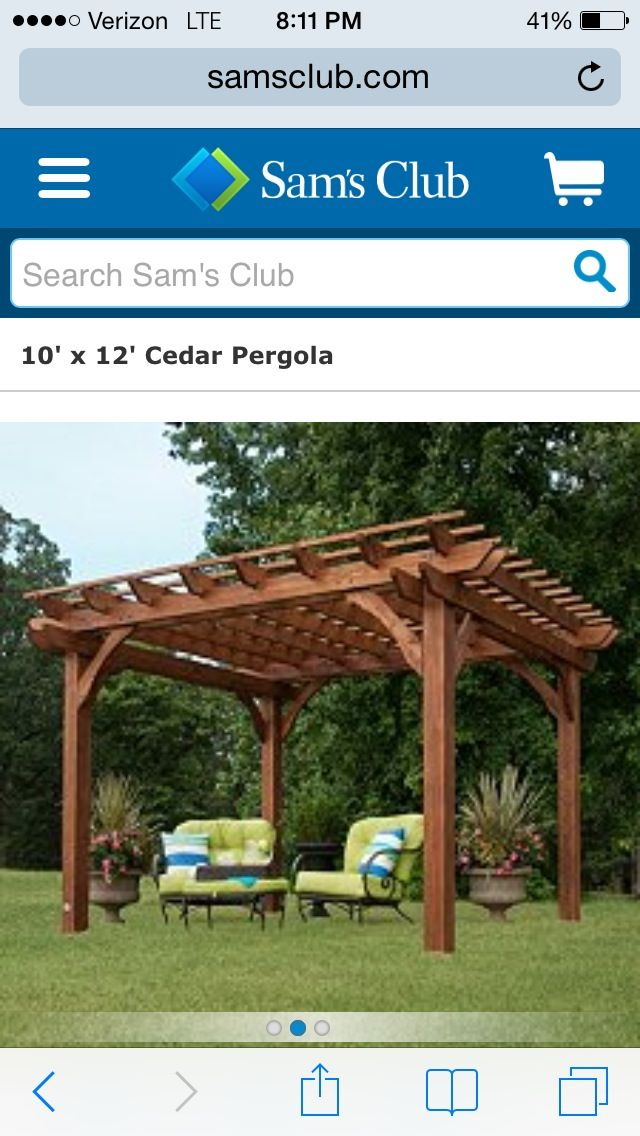 pergola kit sold sam 39 s club patio garden design pinterest. Black Bedroom Furniture Sets. Home Design Ideas