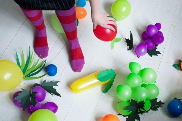 DIY Fruit balloons.