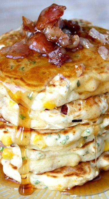 Bacon and Corn Griddle Cakes | Recipe