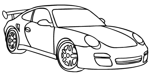 free coloring pages of porsche 911 gt3
