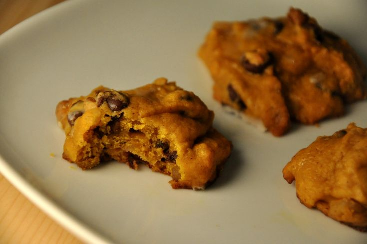 Pumpkin Chocolate Chip Cookies- maybe not the healthiest, but...