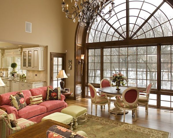Large arched window around the house pinterest - Houses with arched windows ...