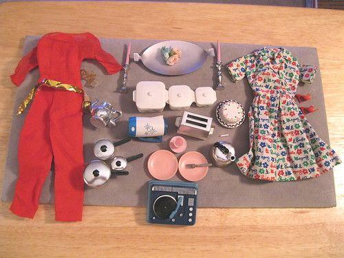 Vintage barbie hostess gift set invitation to tea