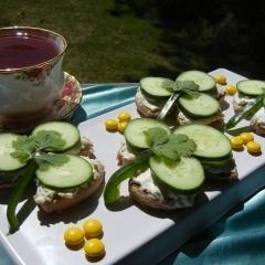 Shamrock Cucumber Tea Sandwiches | Tea | Pinterest