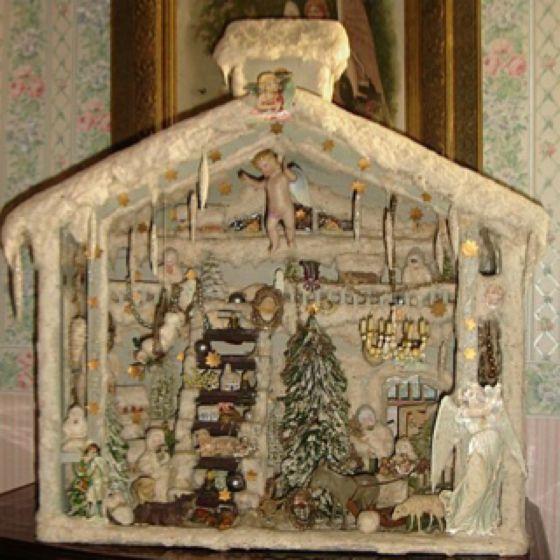 Antique German cotton Christmas decor | Holiday Party! | Pinterest