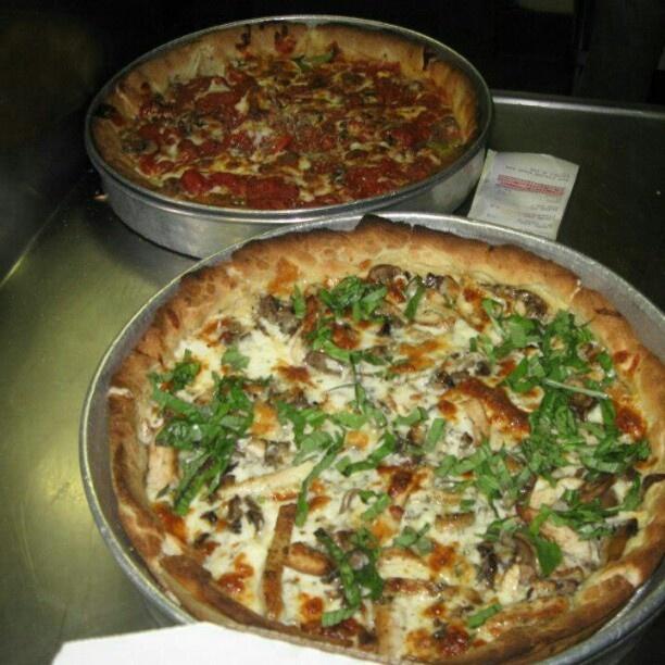Deep dish Chicken Alfredo and Starburst. | Deep Dish Pizzas | Pintere ...
