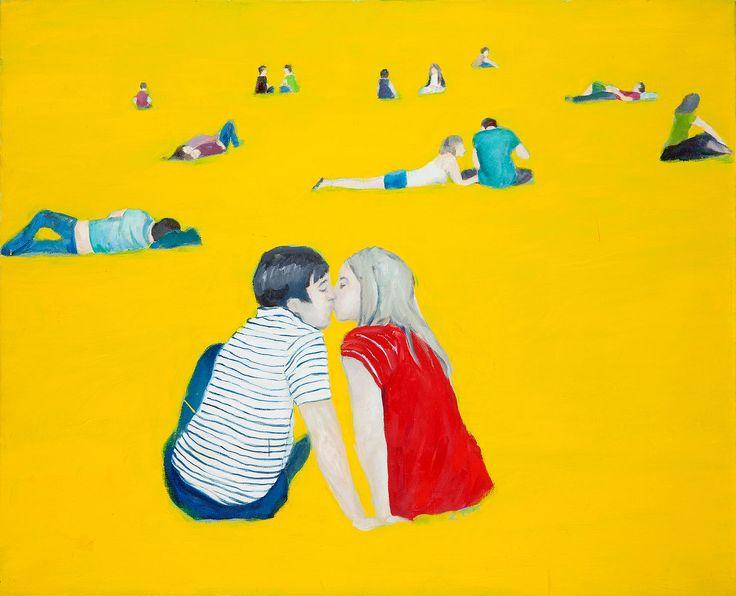 Katarzyna Zawierucha - Blue red, olej, płótno, 81x100 cm