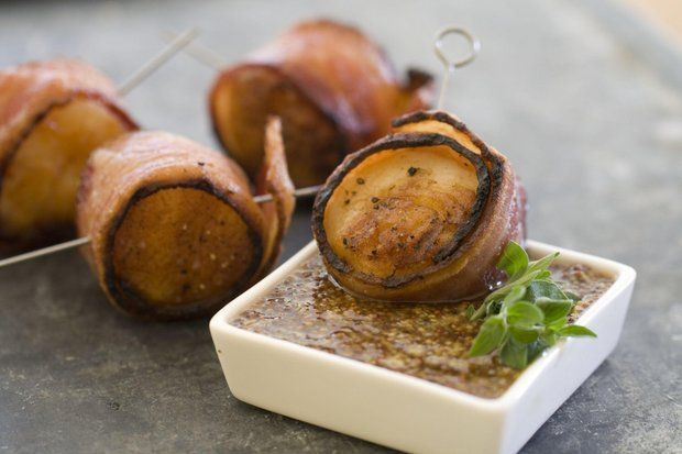 Grilled Bacon-Wrapped Scallops | Very Fishy | Pinterest