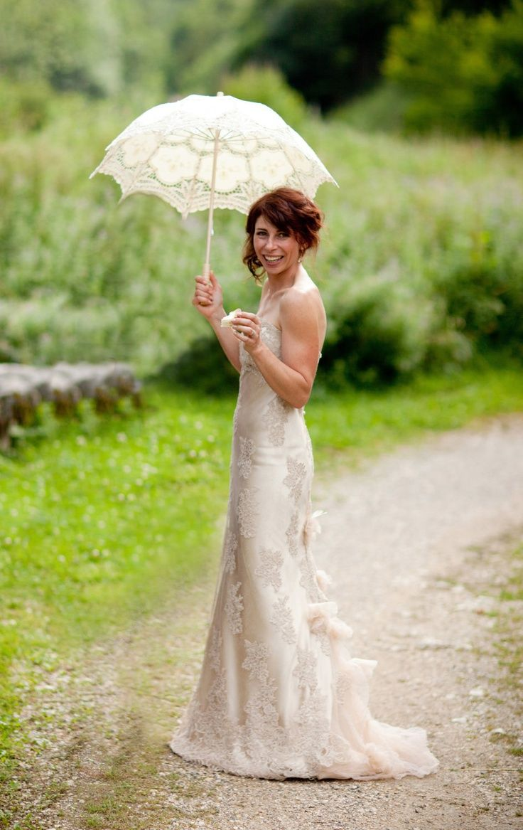 Pin by romantic island journeys on mature brides pinterest for Second hand lace wedding dress