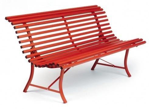 Red Fermob Outdoor Bench Brownstone Garden Pinterest