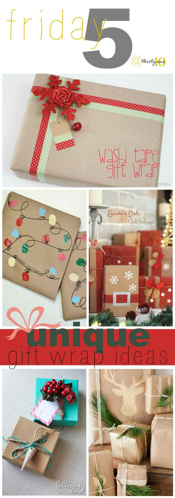 5 Unique Gift Wrap Ideas And Tutorials Gift Wrapping