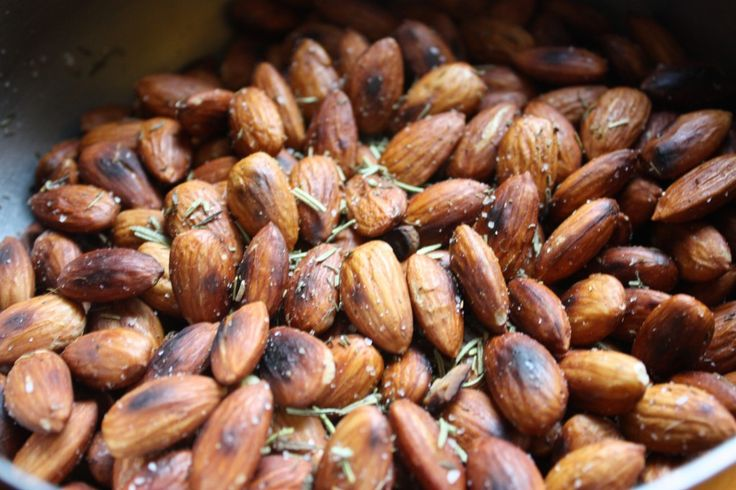 Fried Almonds with Rosemary and Thyme | foood | Pinterest