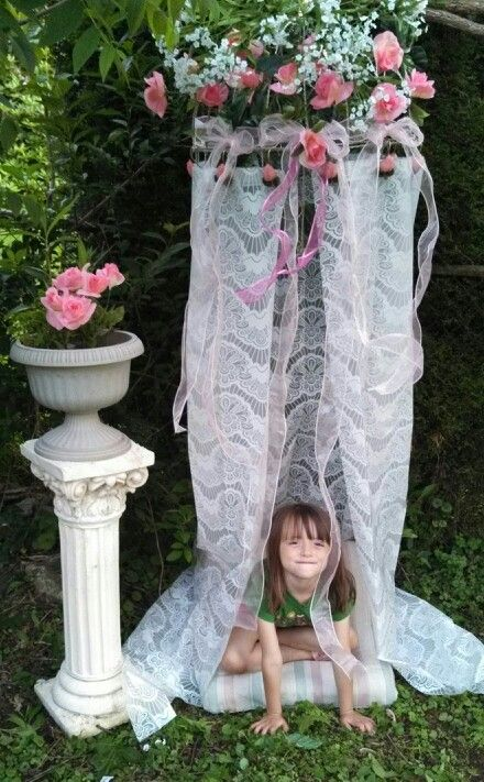 Shower curtain princess fort | Play forts | Pinterest